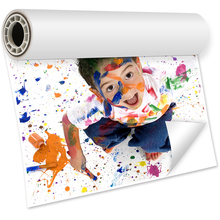 Adhesive matte photo paper roll
